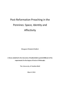 Post-Reformation Preaching in the Pennines: Space, Identity